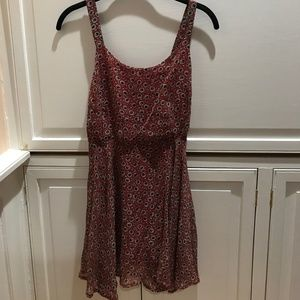 Urban Outfitters red floral dress, Good Condition